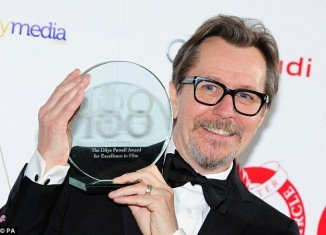 Gary Oldman was presented with the Dilys Powell award for excellence in film