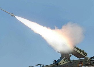 North Korea has fired four short-range missiles towards the sea off the country's east coast