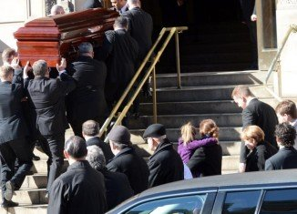 Philip Seymour Hoffman has been mourned by family and friends at his funeral in New York City