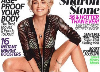 Sharon Stone appears on the cover of Shape magazine's March issue