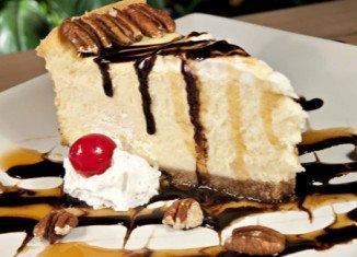 White Chocolate Cheesecake with White Chocolate Brandy Sauce
