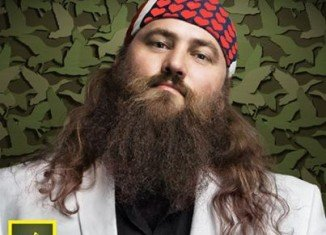 Willie Robertson sported a special bandanna to celebrated this year's Valentine's Day