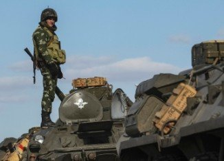 A Ukraine's army junior officer has been killed in an attack on a military base in Crimea