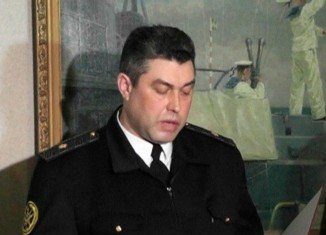 Admiral Denis Berezovsky surrendered his headquarters in the Crimean port of Sevastopol
