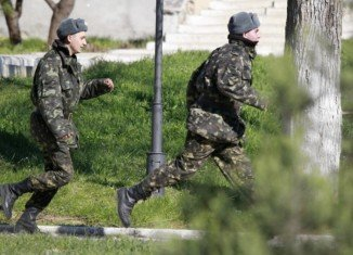 At least one person was injured during the assault on Belbek base, near Sevastopol