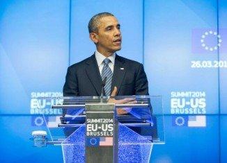 Barack Obama was speaking after talks in Brussels with EU leaders Jose Manuel Barroso and Herman Van Rompuy