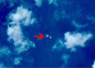 China has released satellite images of possible debris from the missing Malaysia Airlines flight MH370
