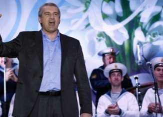 Crimea PM Sergei Aksyonov celebrated referendum results