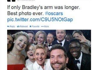 Ellen DeGeneres' Oscars selfie has become the most re-tweeted image in Twitter's history