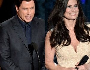 John Travolta mispronounced Idina Menzel's name at the Oscars ceremony on Sunday