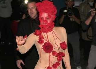 Lady Gaga celebrated her 28th birthday with a short concert at the Roseland Ballroom in New York City