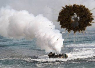 North Korea and South Korea fired artillery shells into each other's waters