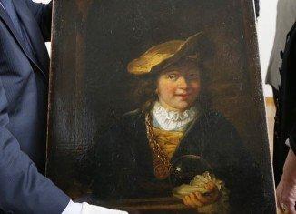 Rembrandt's L'enfant a la bulle de savon was taken from a museum in Draguignan in 1999