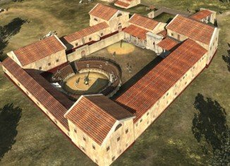 The remains of a Roman gladiator school at Carnuntum were mapped using sophisticated aerial surveys and ground-penetrating radar