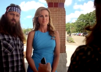 Willie and Korie Robertson guest star in the forthcoming film God's Not Dead