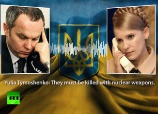 Yulia Tymoshenko has been caught in a leaked taped phone call with parliamentarian Nestor Shufrych