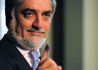 Afghanistan's former Foreign Minister Abdullah Abdullah is slightly ahead of Ashraf Ghani in the country's presidential election