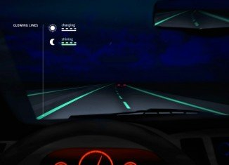 Daan Roosegaarde has unveiled glow in the dark road markings on a 500 m stretch of highway in the Netherlands