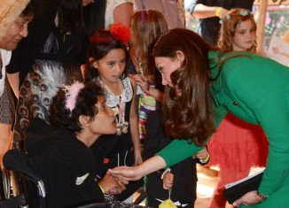 Kate Middleton was met by more than 40 children and their families at Rainbow Place in Hamilton