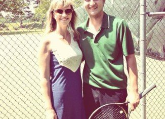 Missy Robertson spent her birthday watching son Reed and nephew John Luke's play in tennis regionals