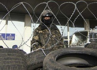 Pro-Russian protesters have seized state security buildings in eastern Ukraine