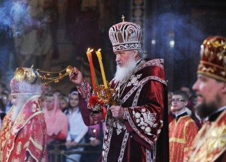 Russian Church Patriarch Kirill asked God to end the designs of those who wanted to rip apart Russia and Ukraine