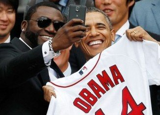 Samsung has been criticized by the White House for promoting a selfie taken by Boston Red Sox player David Ortiz with President Barack Obama