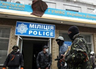Several official buildings were reported to have been seized in eastern Ukraine