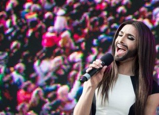 Conchita Wurst has given her first public concert since her Eurovision victory