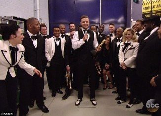 Justin Timberlake accepted seven Billboard Music Awards by video while he is on tour