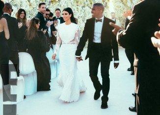 Kim Kardashian's wedding dress was a white Givenchy Haute Couture gown