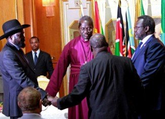 Salva Kiir and Riek Machar signed the deal in Addis Ababa, after their first face-to-face meeting since the hostilities began
