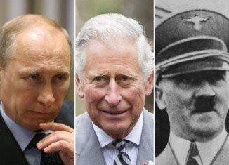 Vladimir Putin has described Prince Charles' alleged comparison of him with Adolf Hitler as unacceptable