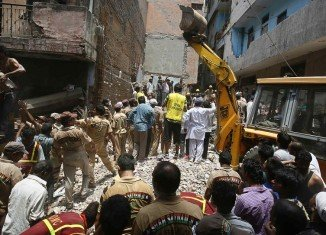 A four-storey building collapsed in Delhi, killing 10 people