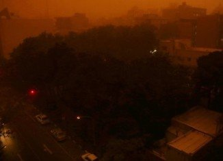 At least four people have been killed and about 30 injured after a powerful sandstorm has hit Tehran