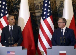 During his visit to Poland, President Barack Obama has unveiled plans for a $1billion fund to increase US military deployments to Europe