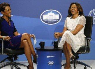 Michelle Obama was asked if she might enter politics after President Barack Obama leaves office