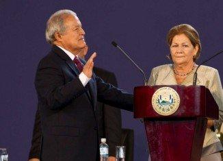 Salvador Sanchez Ceren has been sworn in as El Salvador's president