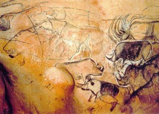 The 1,000 drawings carved in the walls of the Decorated Cave of Pont d'Arc, or Grotte Chauvet, are 36,000 years old and include mammoths and hand prints