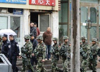 Thirteen people have been executed for terrorist attacks in Xinjiang province
