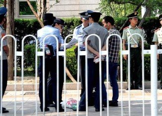 Tiananmen Square has been swamped by security personnel on the 25th anniversary of the Beijing massacre