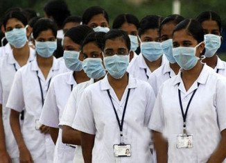 Forty six Indian nurses were trapped in fighting engulfing parts of Iraq