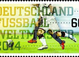 Germany has issued a stamp celebrating its soccer team's victory at the 2014 World Cup championship