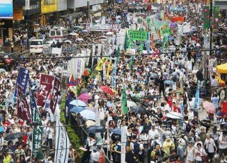 More than half a million people are expected to join Hong Kong pro-democracy rally, which will kick off in Victoria Park