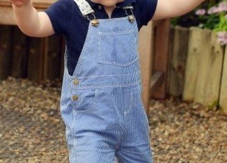 Prince George pictured at the Sensational Butterflies exhibition at London's Natural History Museum ahead of his first birthday
