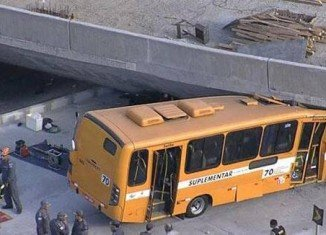 The bridge has collapsed on a bus in the Brazilian World Cup host city of Belo Horizonte