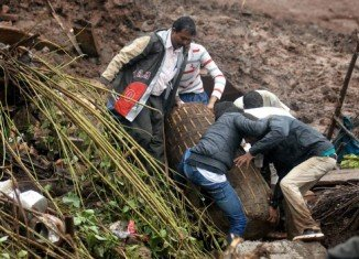 The landslide has claimed at least 23 lives and buried up to 200 people near the city of Pune in Maharashtra state