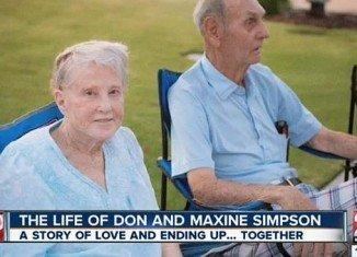 Don and Maxine Simpson died four hours apart on adjoining beds, holding hands during some of their final hours