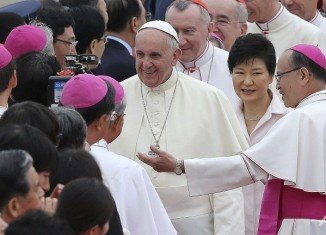 Pope Francis has arrived in South Korea, beginning his first visit to Asia since he took over the papacy in March 2013