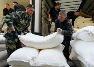 Russia is accused of using humanitarian grounds as a pretext for military intervention in eastern Ukraine